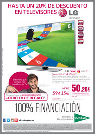 Hasta un 20% de descuento en televisores LG