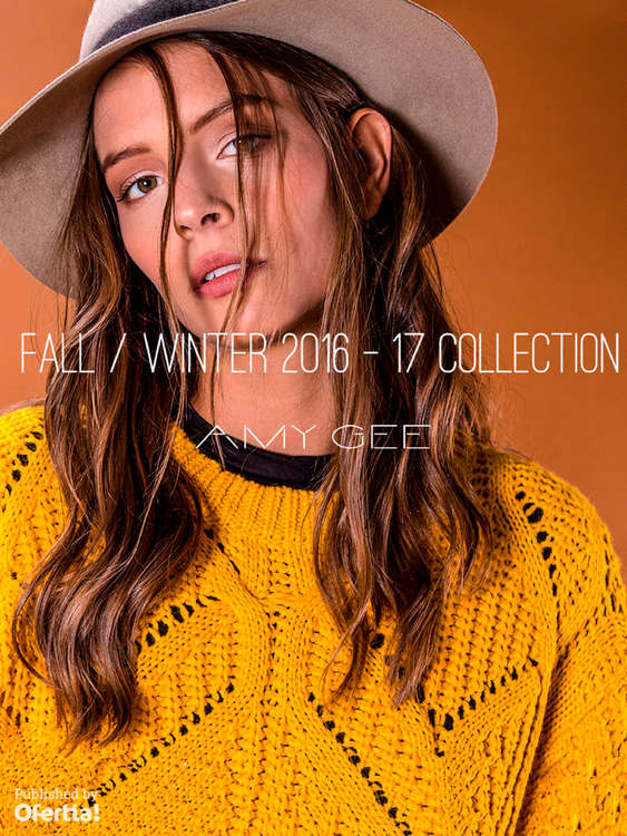 Ofertas de Amy Gee, Fall Winter 2016-17 Collection