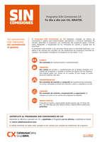 Ofertas de Catalunya Caixa, Programa Sin Comisiones