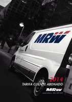Ofertas de MRW, Tarifas abonados 2014