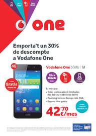 Emporta't un 30% de descompte en Vodafone One