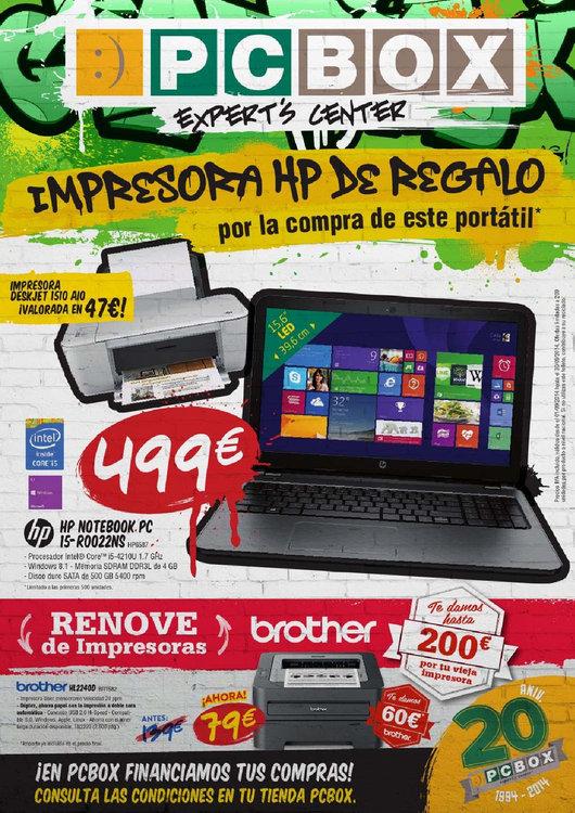 Ofertas de PC Box, Impresora de Regalo con Portátil HP