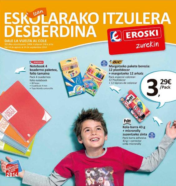 Ofertas de Eroski, Eskolarako Itzulera Desberdina