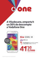 Ofertas de Vodafone, A Viladecans, emporta't un 30% de descompte a Vodafone One