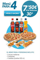 Ofertas de Telepizza, Menús grupales