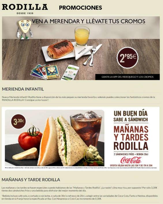 Ofertas de Rodilla, Promociones