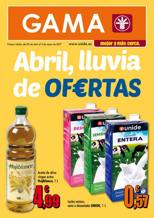 Ofertas de Supermercados Gama, Abril, lluvia de of€rtas