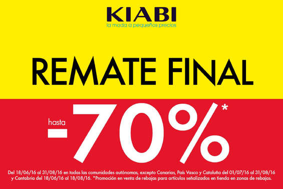 Ofertas de Kiabi, Remate final