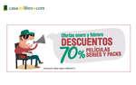 Ofertas de Casa del Libro, -70% en películas, series y packs