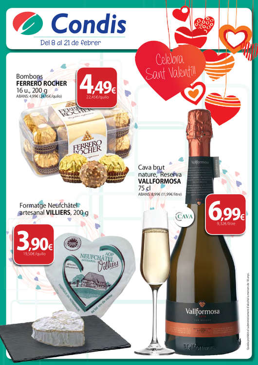 Ofertas de Condis, Celebra Sant Valentí!!