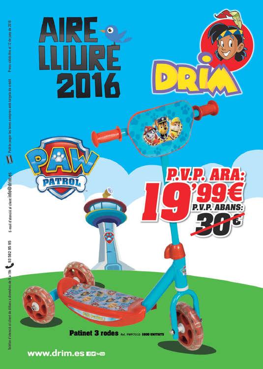 Ofertas de DRIM, Aire lliure 2016