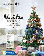 Ofertas de Carrefour, Navidea decorando el árbol y todo lo demás