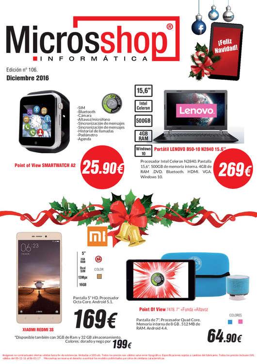 Ofertas de Microsshop, Catálogo diciembre