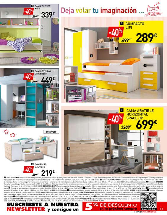 Comprar dormitorio juvenil barato en zaragoza ofertia for Barrera cama carrefour