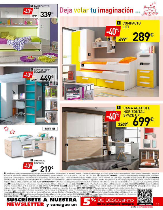 Comprar dormitorio juvenil barato en zaragoza ofertia Barrera cama carrefour