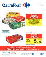 Ofertas de Carrefour, Més de 15000 artícles amb el 50% de descompte en la 2a unitat
