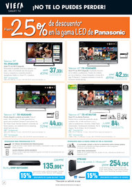 Tecnología. Hasta -25% en TV LED de Panasonic