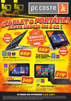 Ofertas de PC Coste, ¿Tablet o Portátil?
