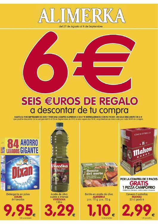 Ofertas de Alimerka, 6€ de regalo a descontar de tu compra