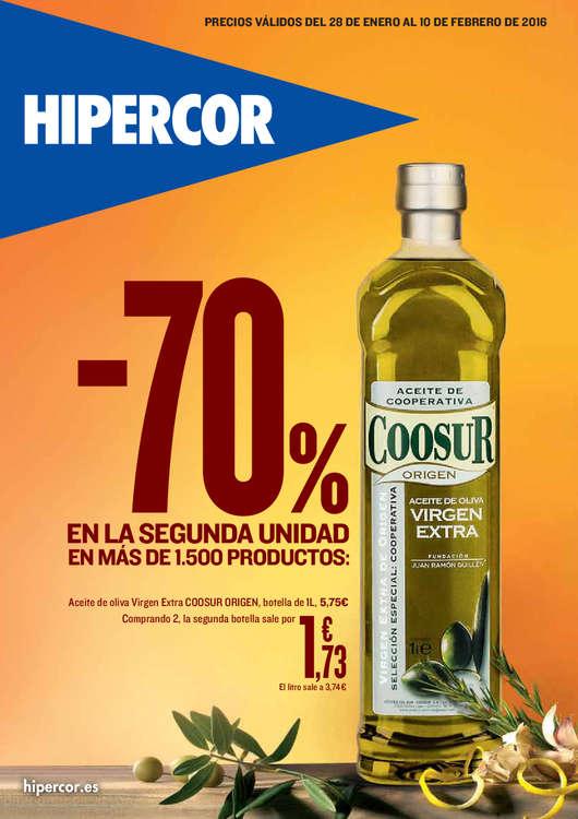 Ofertas de HiperCor, -70% en la 2ª unidad en más de 1.500 productos