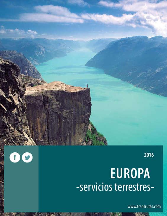 Ofertas de Transrutas, Europa 2016