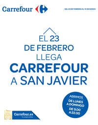 El 23 de Febrero llega Carrefour a San Javier