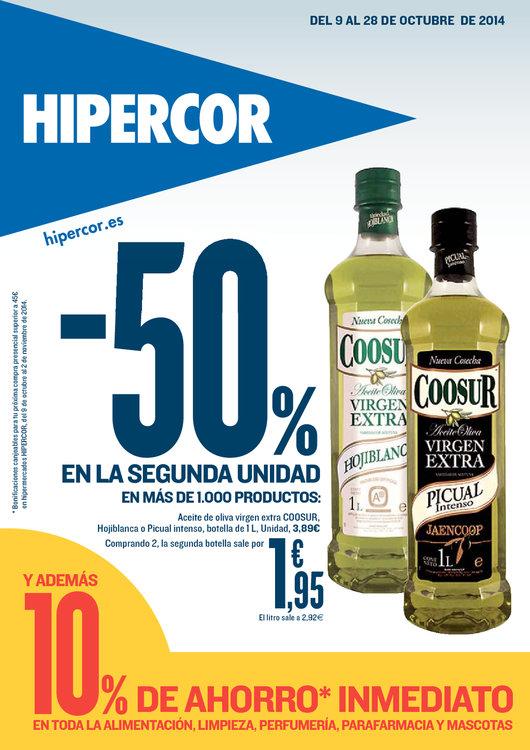 Ofertas de HiperCor, -50% 2ª unidad en más de 1.000 productos