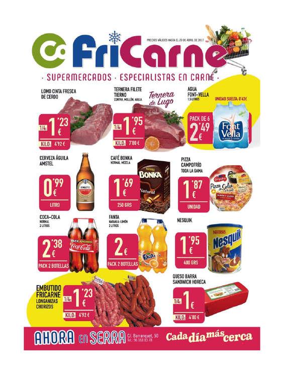 Ofertas de Fricarne, Especialistas en carne