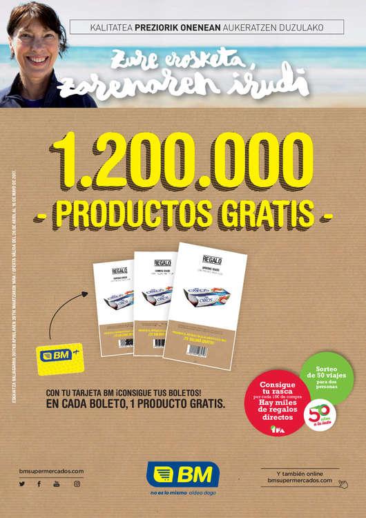 Ofertas de BM Supermercados, 1.200.000 productos gratis
