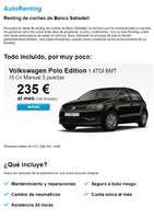 Ofertas de Banco Sabadell, AutoRenting