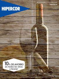 10% de ahorro en todos los vinos y licores