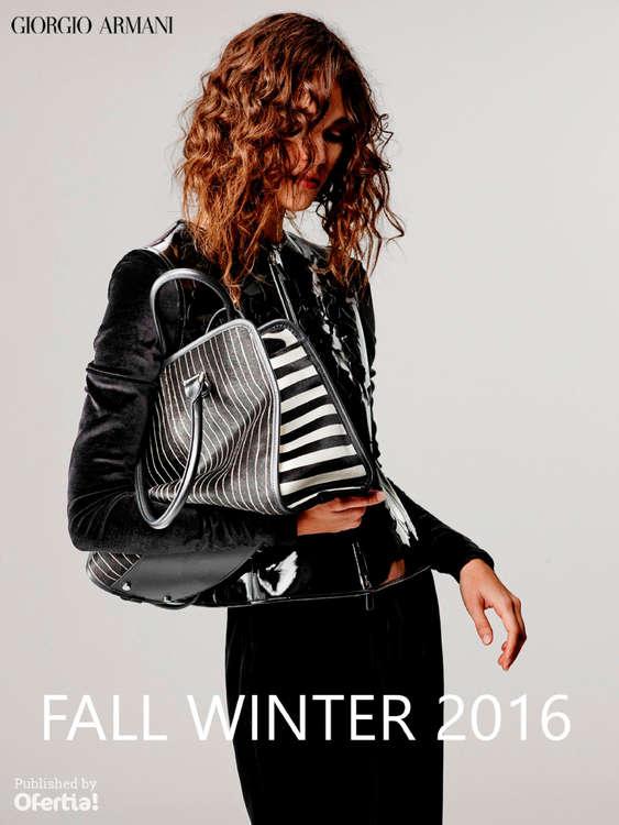 Ofertas de Giorgio Armani, Fall Winter 2016 - Woman Collection
