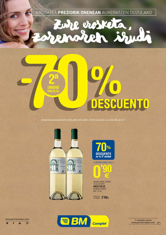 Ofertas de BM Supermercados, -70% descuento