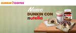 Ofertas de Dunkin Coffee, Nuevo Dunkin con Nutella