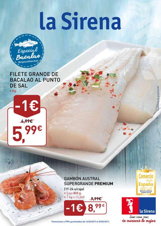 Ofertas de La Sirena, Especial bacalao