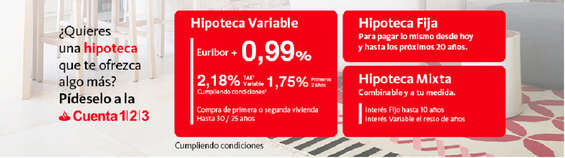 Ofertas de Santander, Hipoteca