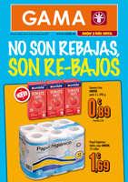 Ofertas de Supermercados Gama, No son rebajas, son re-bajos