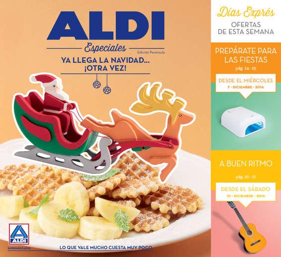 Ofertas de ALDI, Ya llega la Navidad... ¡Otra vez!