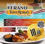 Ofertas de Tony Romas, Menú de Verano
