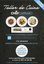 Taller de cuina Chef Caprabo