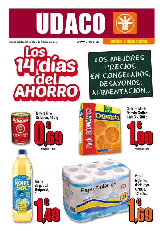 Ofertas de Supermercados Udaco, Los 14 días del ahorro