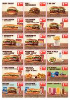 Ofertas de Burger King, Cupones descuento