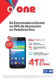 En Extremadura llévate un 30% de descuento en Vodafone One
