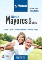 Ofertas de Viajes Ecuador, Especial Mayores de 55 años. Salidas desde Zona Norte