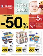Ofertas de Eroski, 2ª unidad a -50%