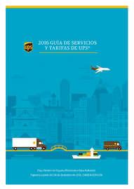 2016 Guía de Servicios y Tarifas de UPS