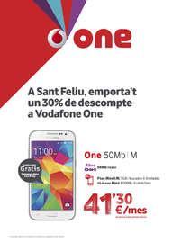 A Sant Feliu, emporta't un 30% de descompte a Vodafone One