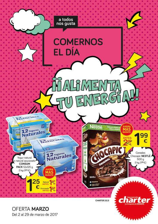 Ofertas de Supermercados Charter, ¡¡Alimenta tu energía!!