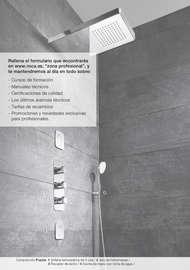 Soluciones de grifería para espacio de ducha