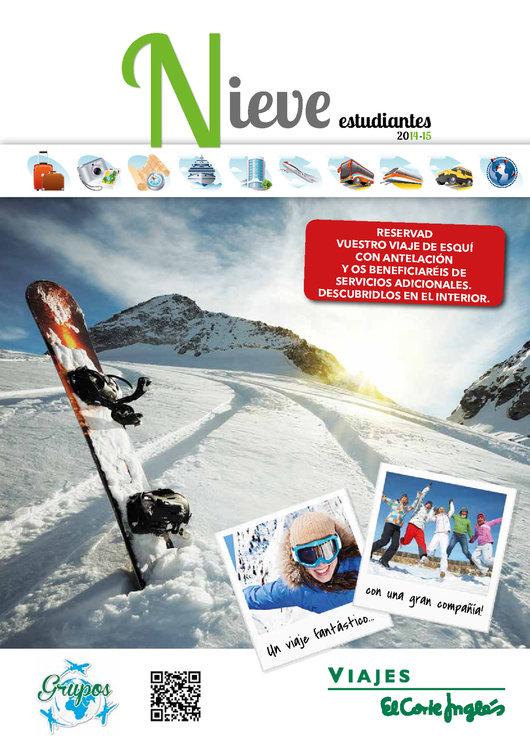 Ofertas de Viajes El Corte Inglés, Grupo Estudiantes Nieve 2014/15